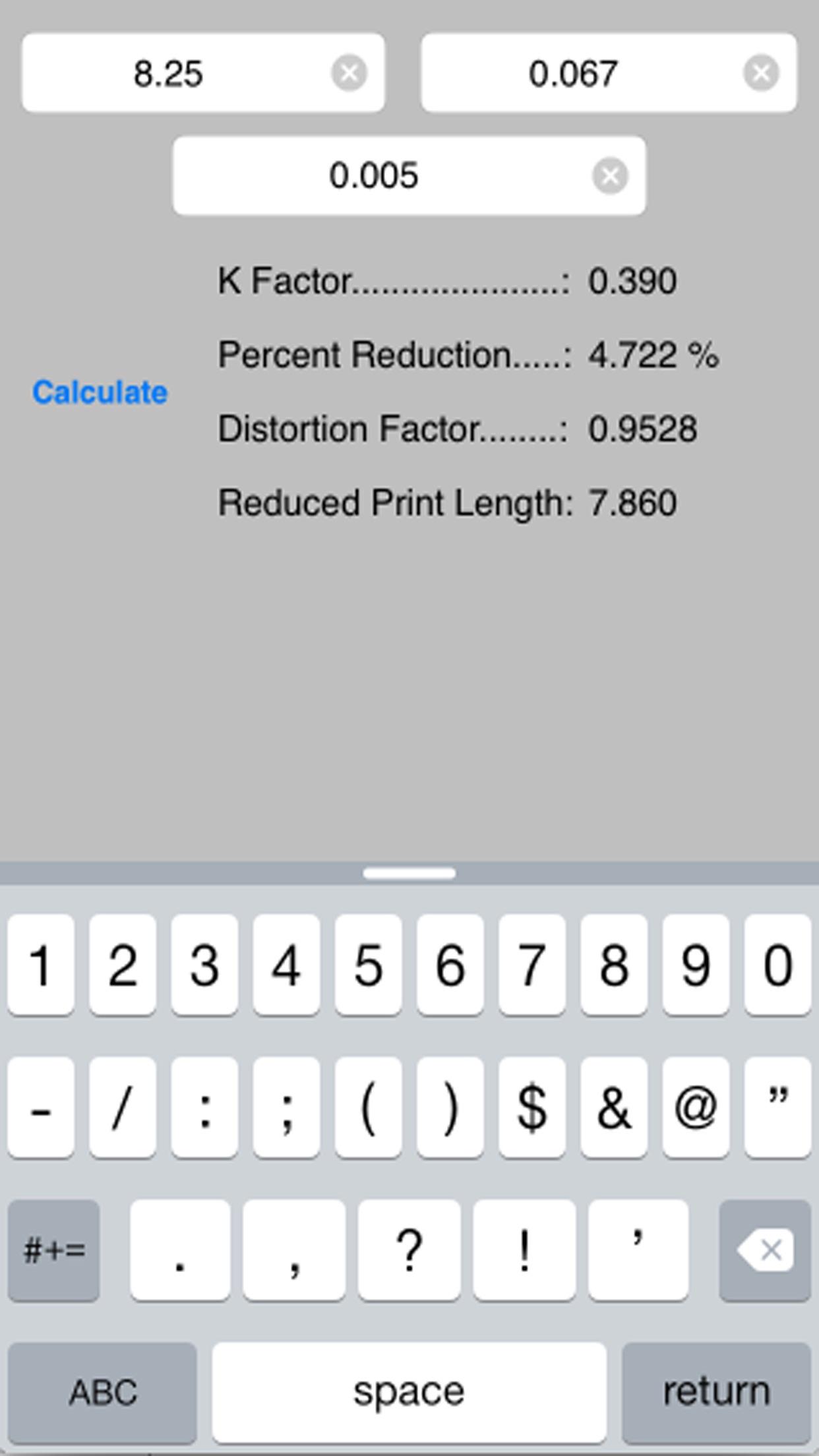 Flexo Plate Distortion Screenshot