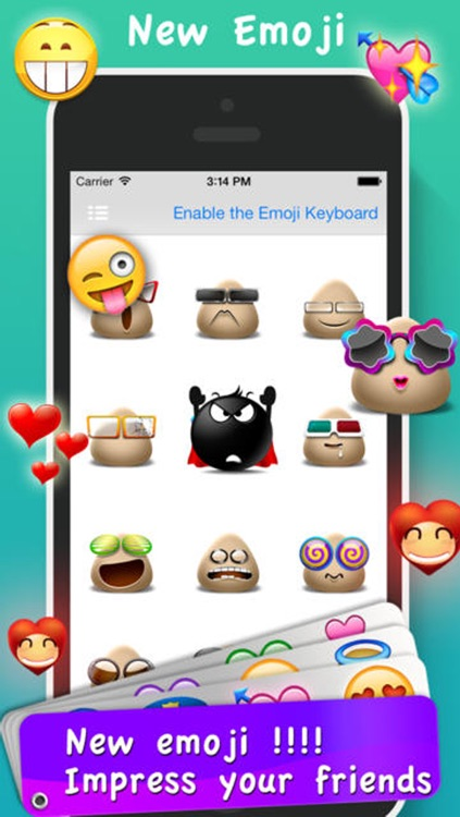 Emoji Emoticons & Animated 3D Smileys PRO - SMS,MMS Faces Stickers for WhatsApp screenshot-3