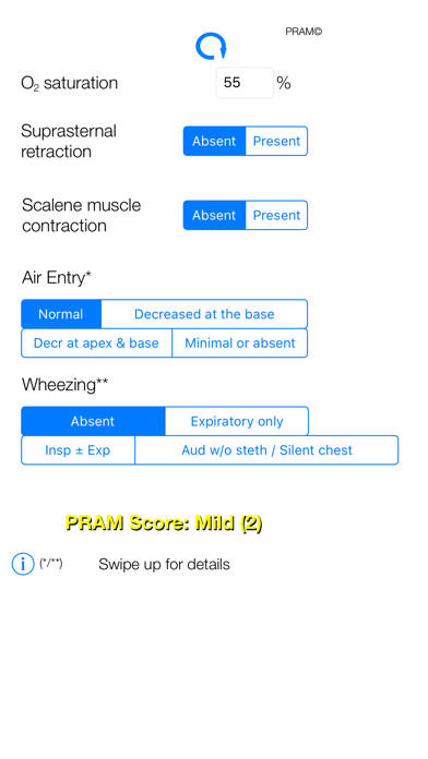 PRAM Score - Pediatric Asthma