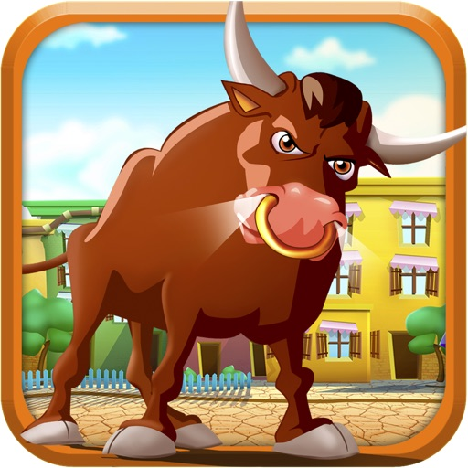 Bull Running Street : Racing against Kid Friends during Day