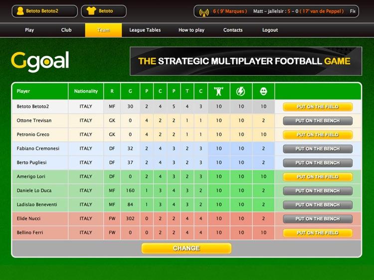 Ggoal - Strategy Football Manager screenshot-4