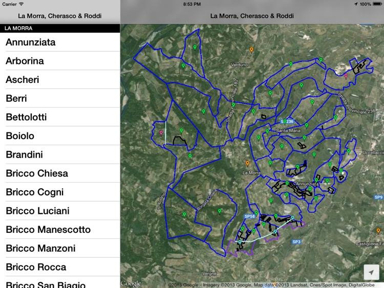 La Morra, Cherasco, Roddi & Verduno Wine Map