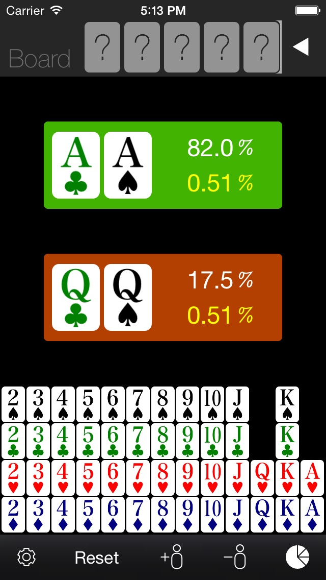 Poker Odds Calculator review screenshots