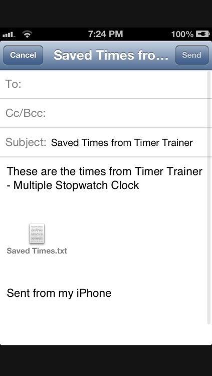 Timer Trainer - Multiple Stopwatch Clock screenshot-4