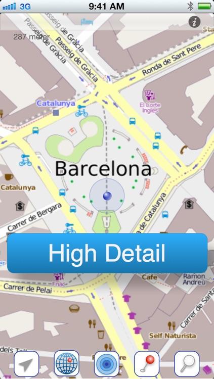 Barcelona Offline Citymap