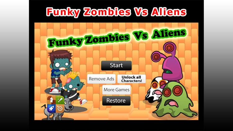 Funky Zombies Vs Aliens