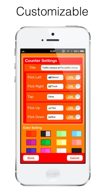 Flick Counter - Tally Counter , Measure without looking at the screen screenshot-4