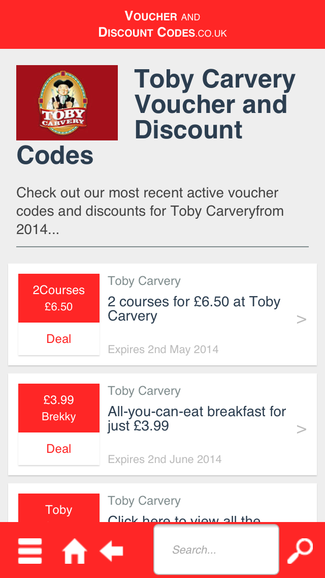 Voucher and Discount Codes screenshot two