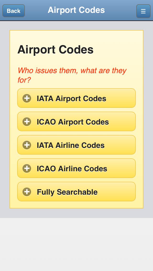 Airport Codes Databaseのおすすめ画像1