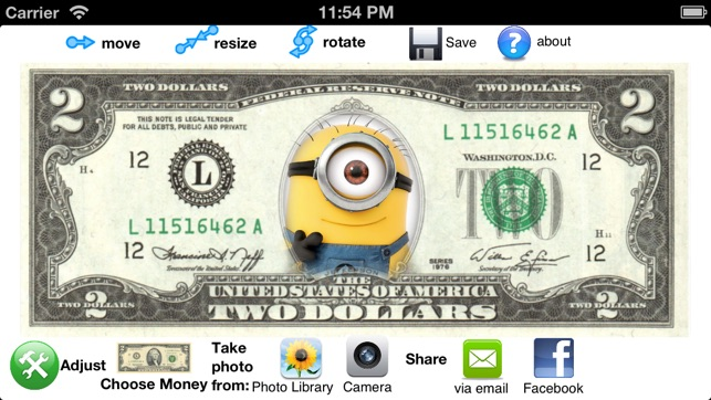 me on money create your own bill us and canadian dollars on the