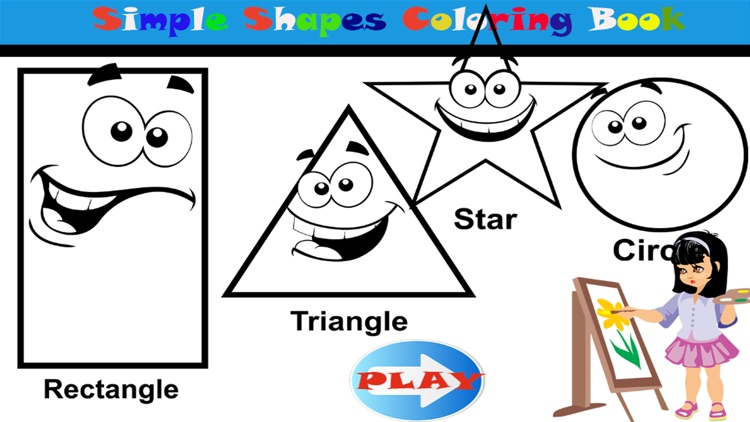 Simple Shapes Coloring Pages For Toddlers by Chatchai ...
