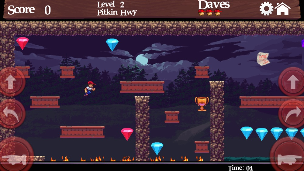 Dangerous Dave in the Deserted Pirate's Hideout Cheat Codes