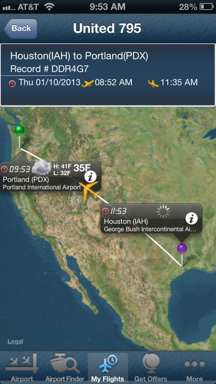 Portland Airport PDX + Flight Tracker Premium Alaska
