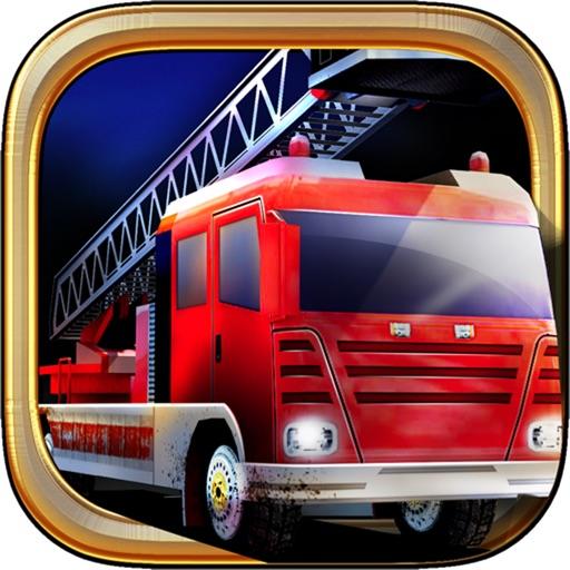 American fire truck parking 3D