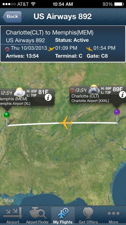 Memphis Airport + Flight Tracker
