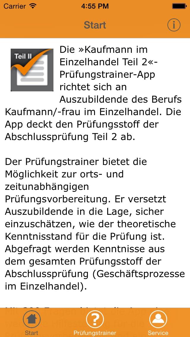 Screenshot for Kaufmann im Einzelhandel Teil II – Prüfungstrainer in Germany App Store