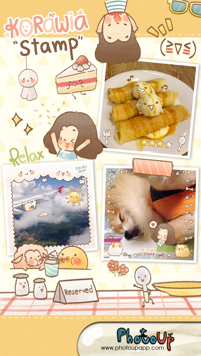 Korawia Stamp by PhotoUp - Cute Stamps Frame Filter photo decoration app Screenshot