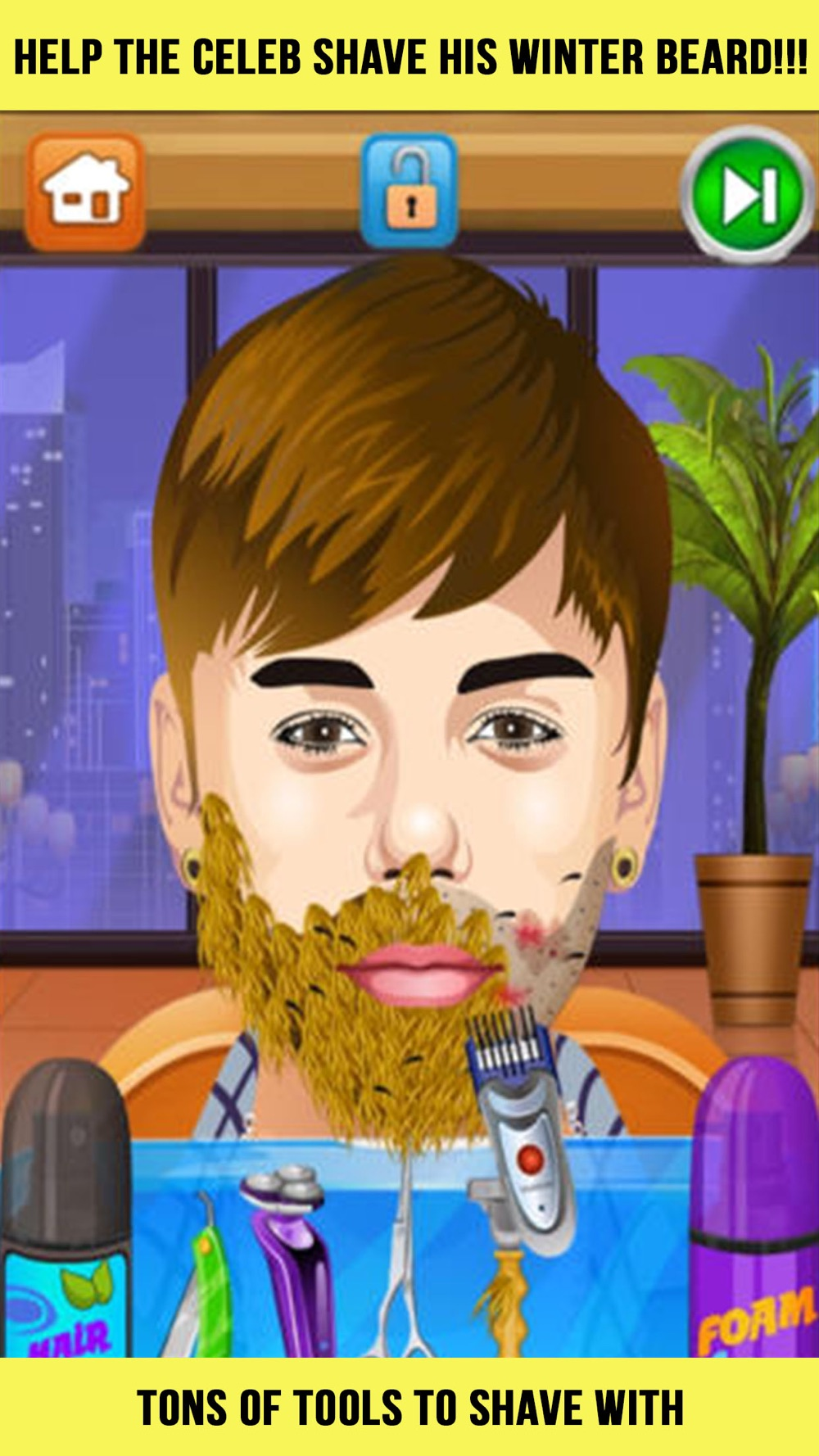 Celebrity Shave Beard Makeover Salon & Spa – hair doctor girls games for kids