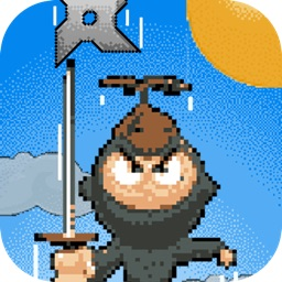 Tiny Ninja Pixel Jump - Climb the impossible tower while dodging shurikens
