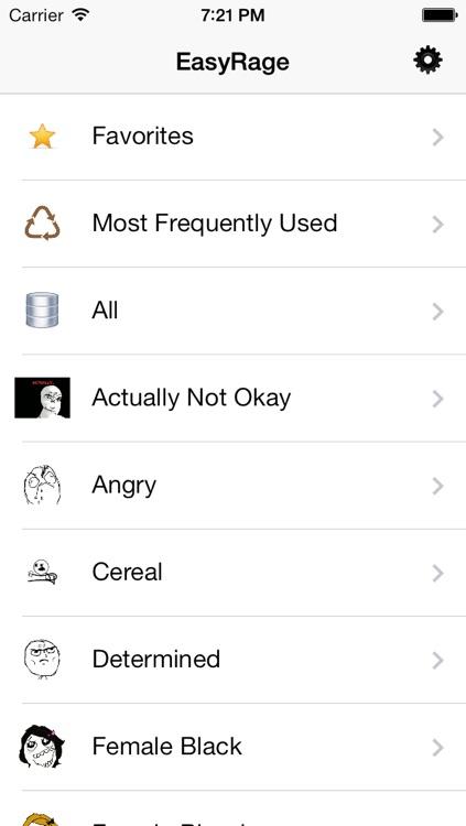 EasyRage - 850+ Popular Rage Faces for SMS screenshot-3