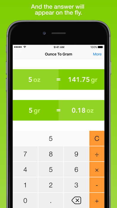 Ounce To Gram, the fastest weight converter screenshot two
