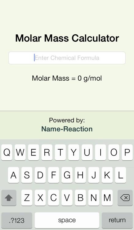 Molar Mass Calculator   NR