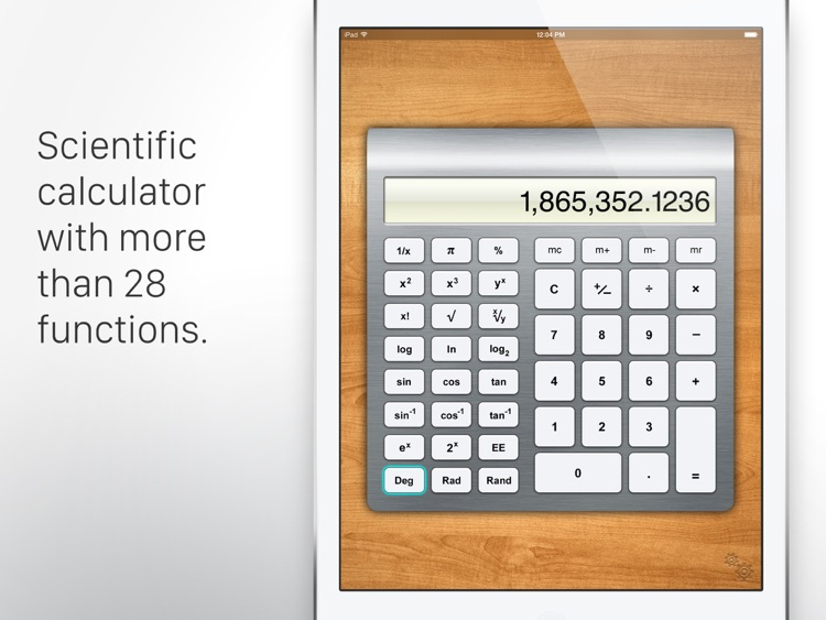 Calculator HD for iPad screenshot-3