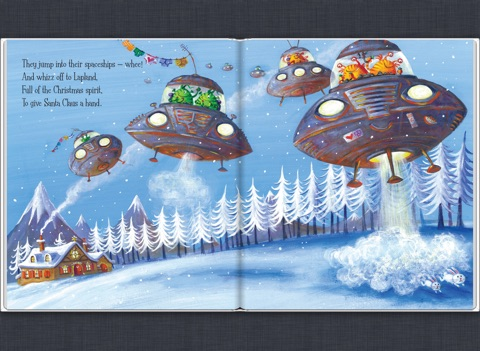 Aliens love panta claus by claire freedman ben cort on ibooks screenshot 2 fandeluxe Image collections
