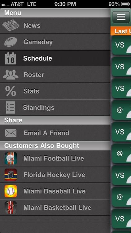 Miami Canes Football Live