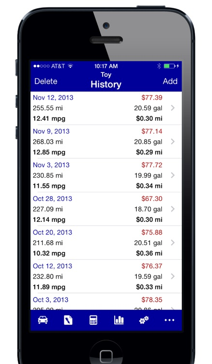 Gas Log (Lite) - MPG Fuel Calculator screenshot-1