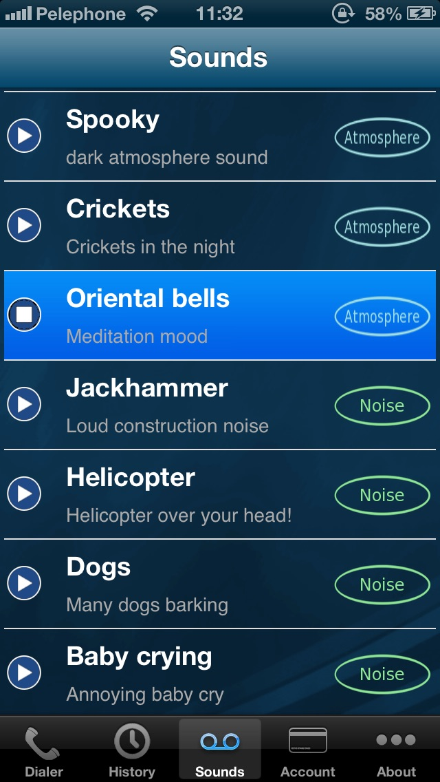 Voypi - Call Background Sounds app image