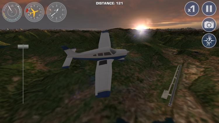 Airplane Fly the Swiss Alps Flight Simulator screenshot-4