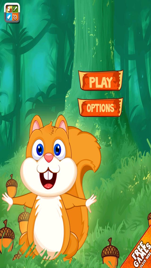 Squirrel Happy Jump Nut - Fun Acorn Collecting Adventure