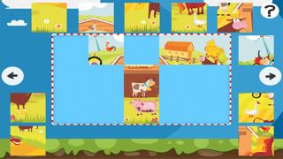 農場拼圖 - 拼圖兒童,幼兒和家長的遊戲! 學習 與動物,農民,牛,馬,羊,鵝,鴨,蜜蜂和蝴蝶的幼兒園,學前班和幼兒園屏幕截圖2