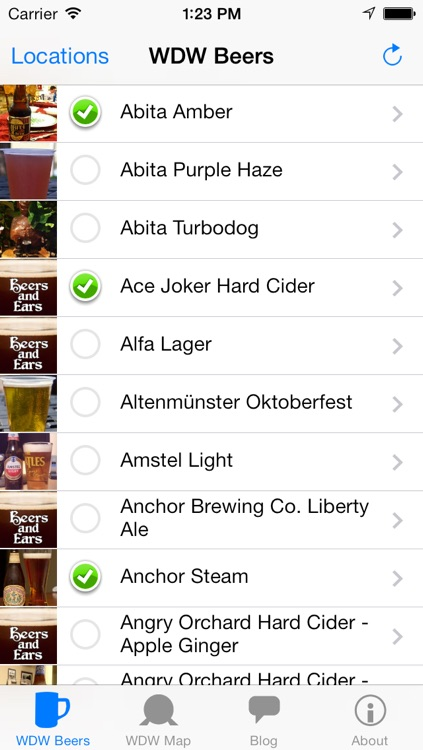 Beers and Ears Beer List - Walt Disney World Edition