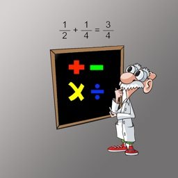 Chalkboard Fractions - Kids Math Adding Mixed Fractions