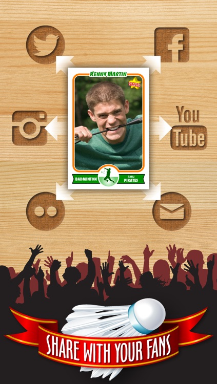 Badminton Card Maker - Make Your Own Custom Badminton Cards with Starr Cards screenshot-3