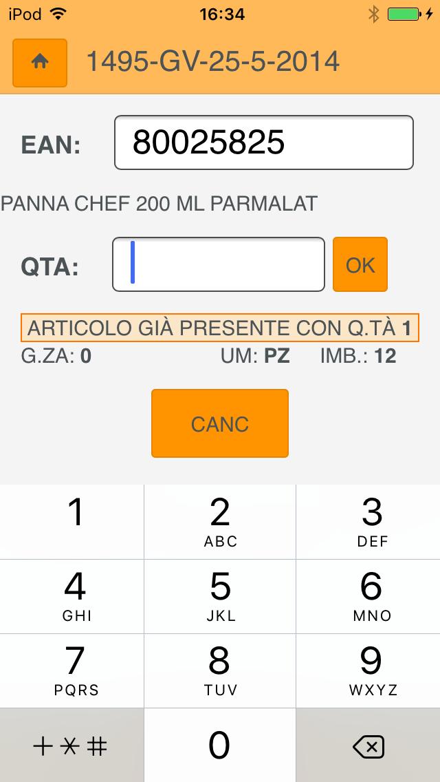 Screenshot of Inventario Mobile1