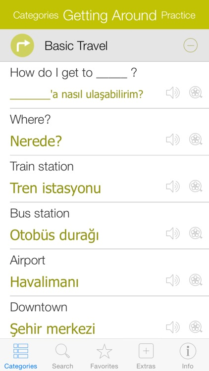 Turkish Video Dictionary - Translate, Learn and Speak with Video Phrasebook