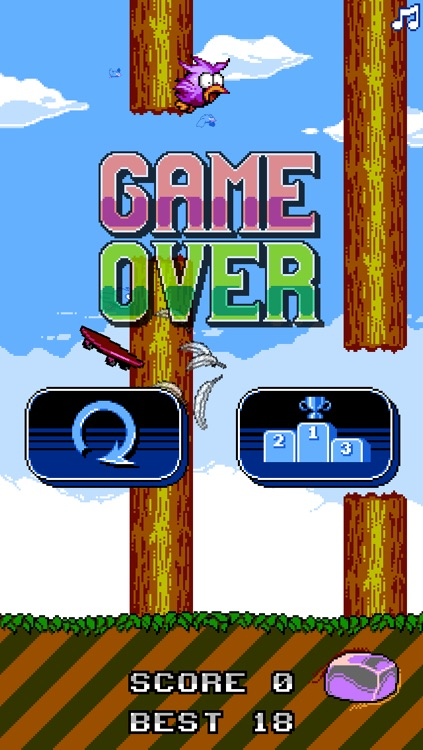 Skate Bird - The Adventure of a Flappy Tiny Bird screenshot-3