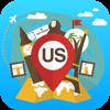 Estados Unidos USA Guía y mapa de viaje Desconectado Offline. Visitas ciudad: Nueva York NYC,Los Ángeles,Chicago,Miami
