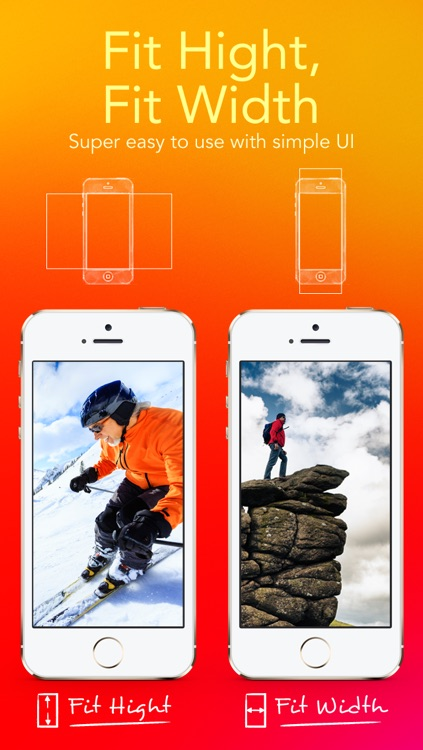 Wallpaper Fit - Custom Background Wallpaper and Lock Screen from Your Photo Picture and Image for iOS 7