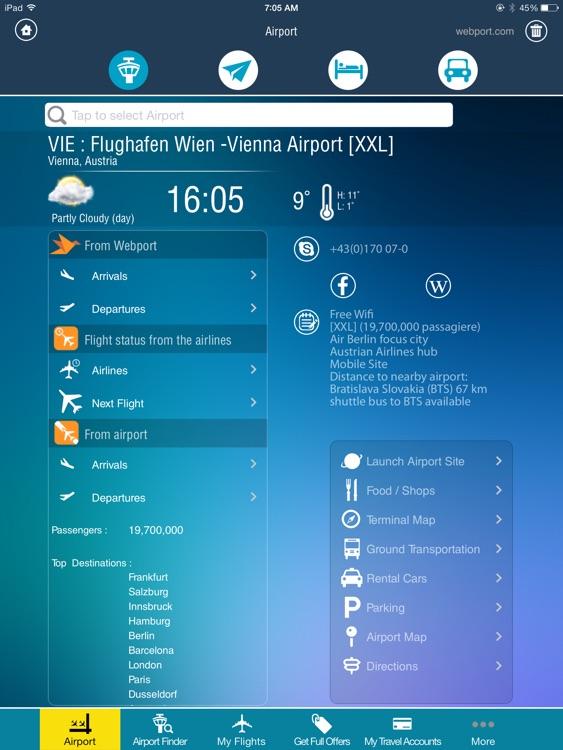 Vienna Airport + Flight Tracker Premium HD Austrian VIE airlines