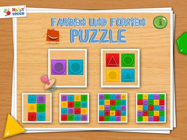 baby spiele farben und formen puzzle f r kleinkinder. Black Bedroom Furniture Sets. Home Design Ideas