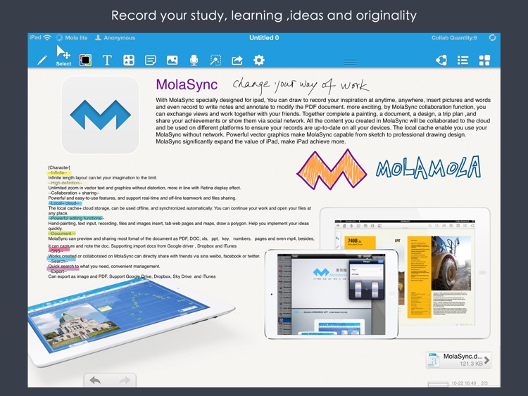 Mola lite-Collaboration ! Simplified and free version of MolaSync screenshot-4
