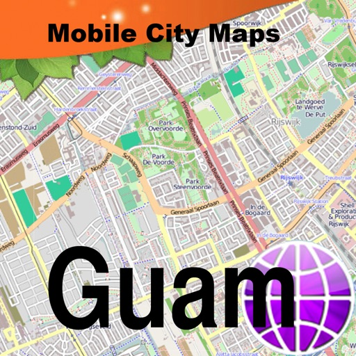 Guam Street Map by Dubbele.com