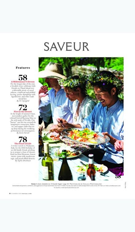 Saveur Magazine Archive screenshot-1