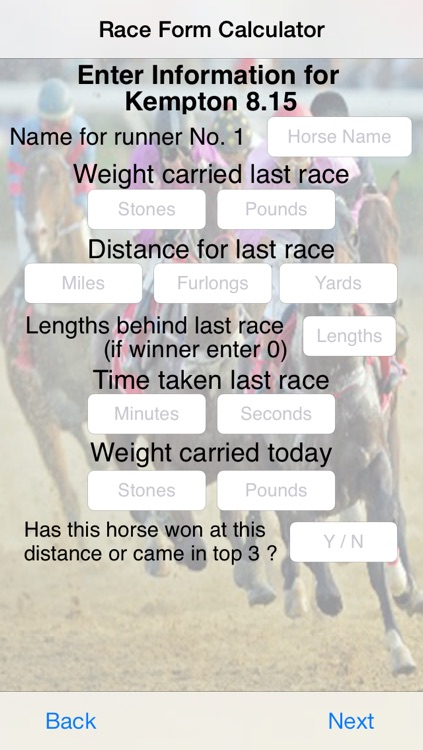Race Form Calculator screenshot-2