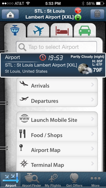 St. Louis Airport + Flight Tracker