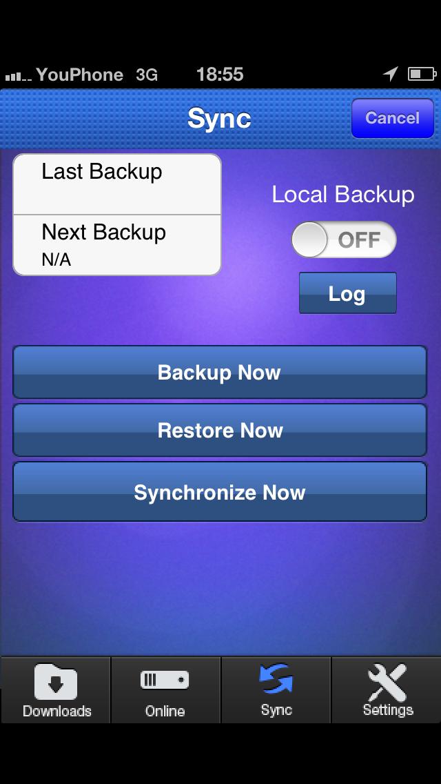 messages.download Back-U-up software